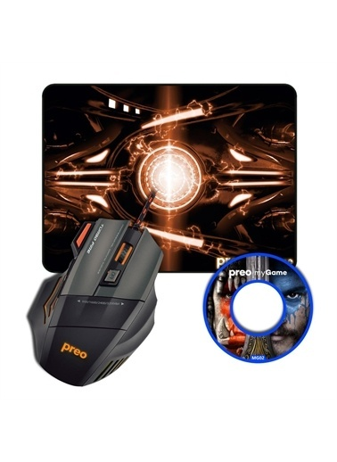 Preo Preo My Game Mg02 Gaming Mouse + Mouse Pad Renkli